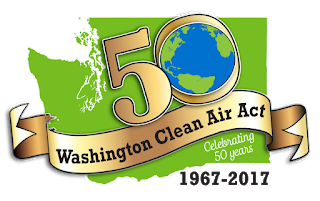 50 year Washington Clean Air Act logo