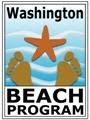 "Graphic of starfish and feet in water, words read ""Washington BEACH Program"""