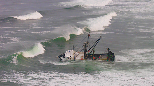 The fishing vessel Privateer has been fined for spilling more than 3,000 gallons of oil at Ocean Shores.