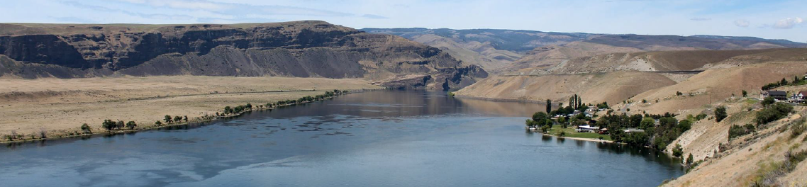 Columbia River seen from above