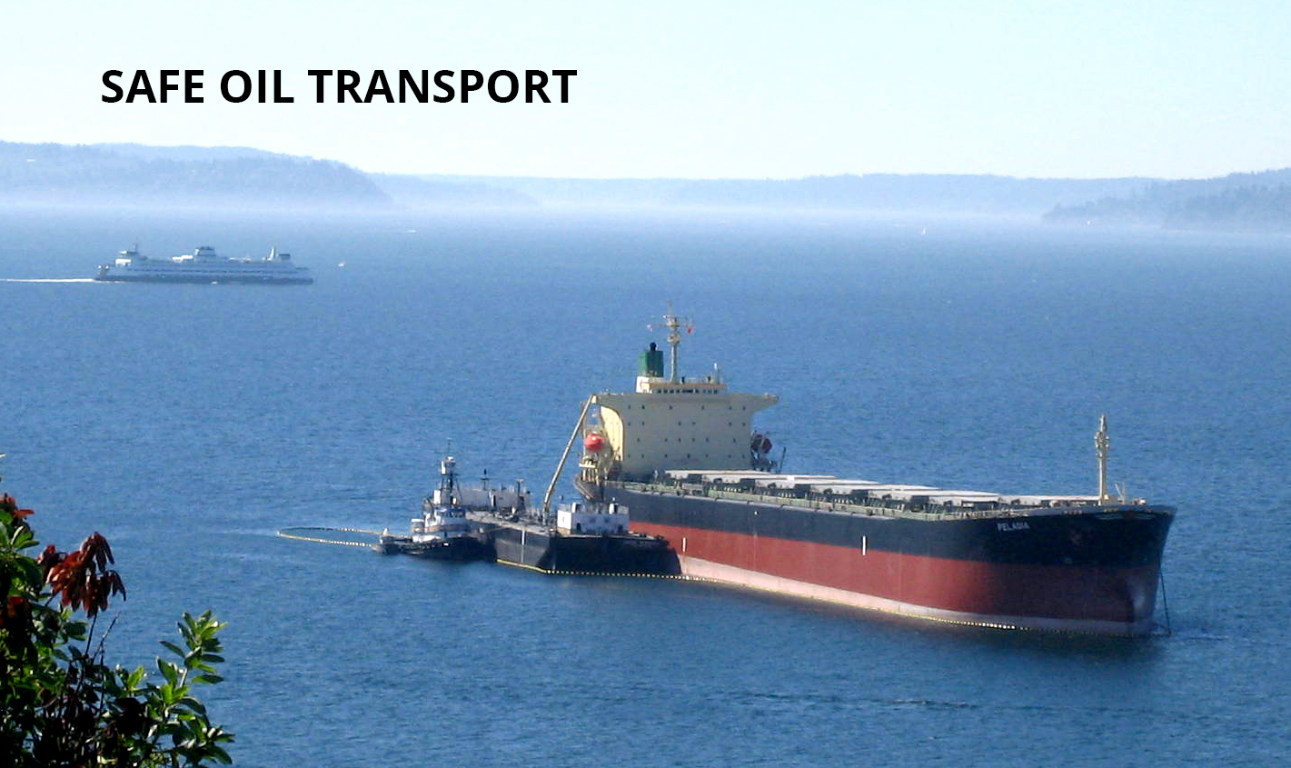 OIl tranport ship in the Straights of Juan de Fuca