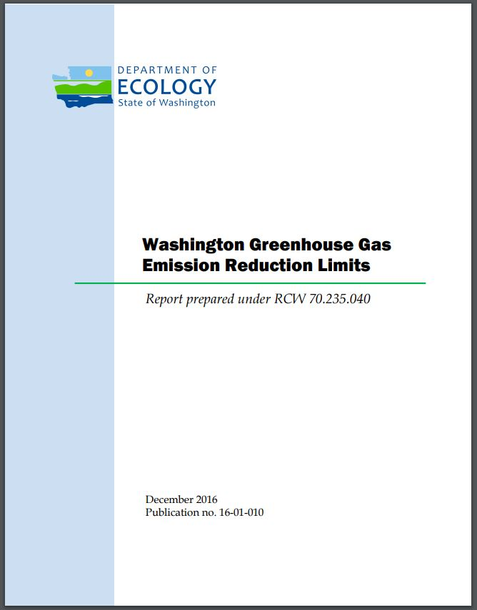 Greenhouse gas report cover.