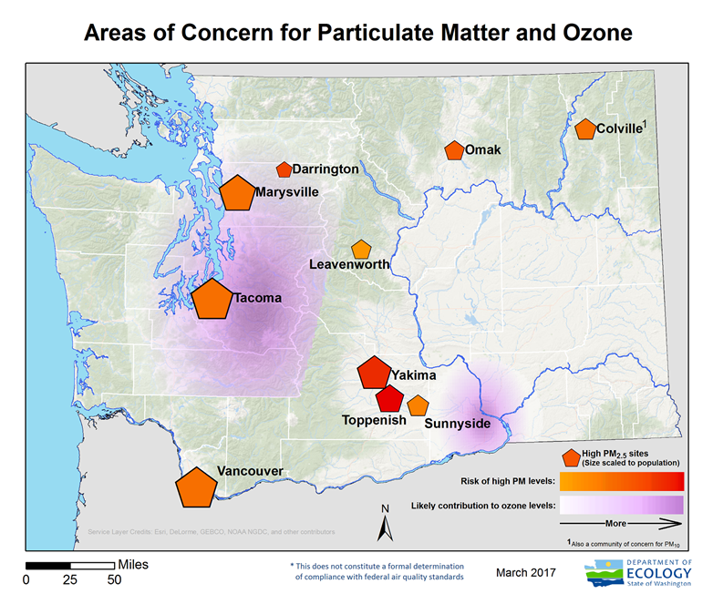 Washington State Department Of Ecology Ozone Pollution