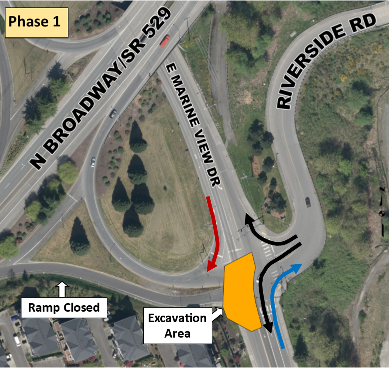 Map of traffic revisions during Phase 1 of Lowlands cleanup project