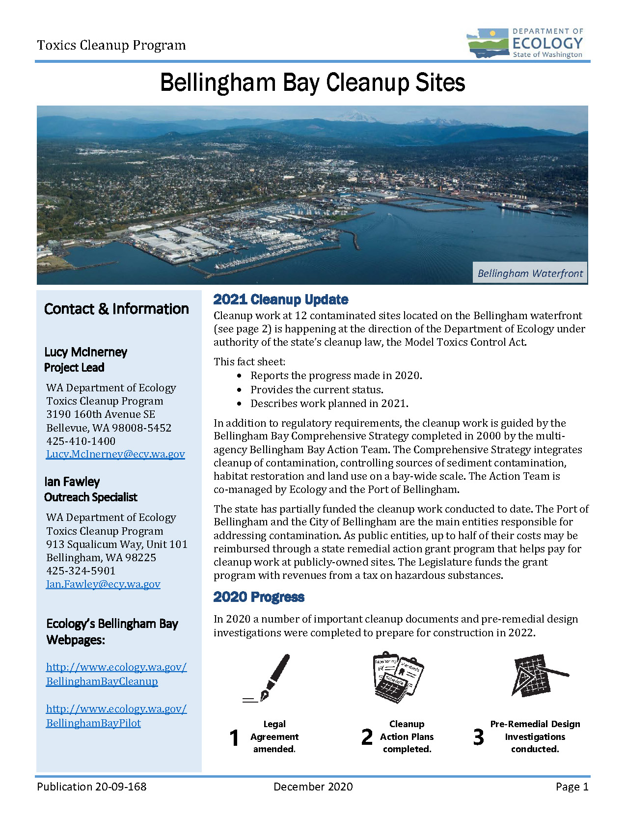 Click to download fact sheet describing 2020 progress and 2021 plans.