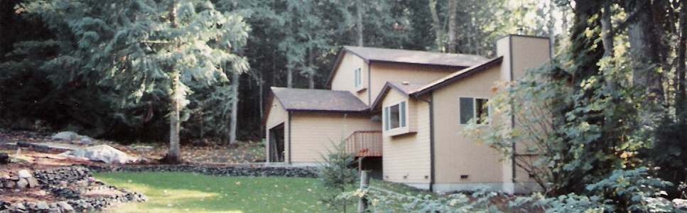 Photo of a house in western Washington (circa 1991).