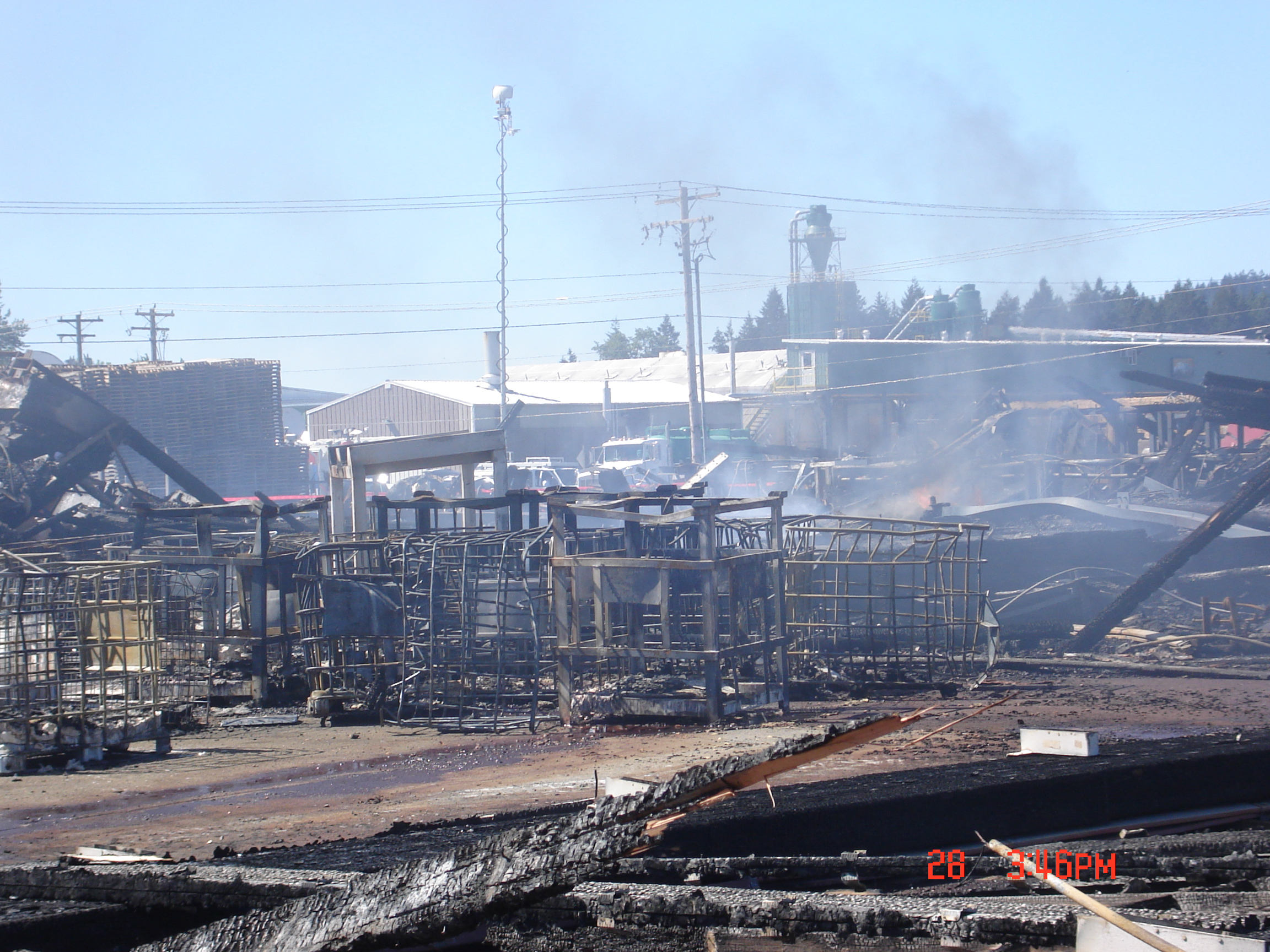 Fire at Cascade Structural Laminators