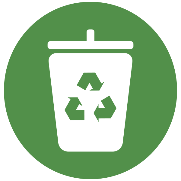 This is an icon of a recycle bin.