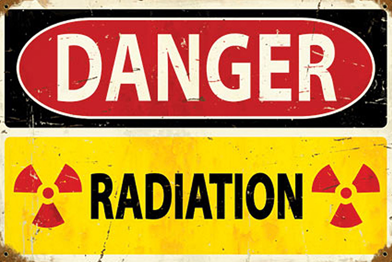 Danger: Radiation sign at Hanford site.