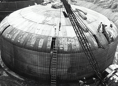 Tank under construction in 1944.