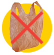Don't put plastic bags into the recycling bin.