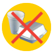 Don't put takeout containers and styrofoam into the recycling bin.