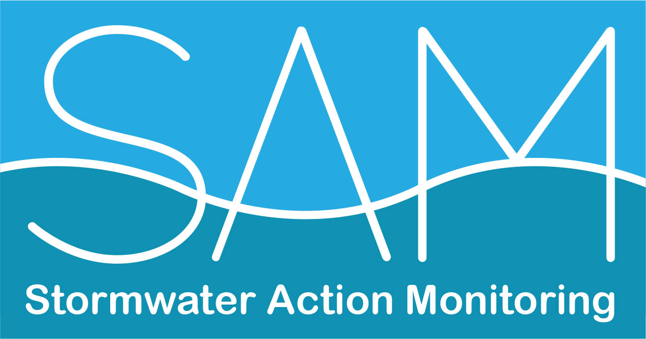 SAM stormwater action monitoring logo