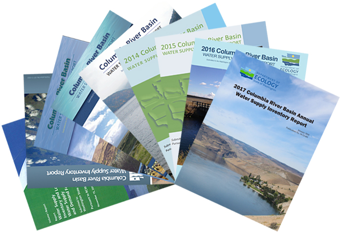 Illustration of covers of the Annual water supply Inventory legislative reports