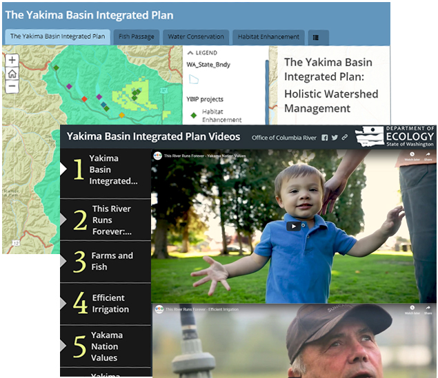 Screenshot of graphics depicting videos and interactive map available for review on this tab