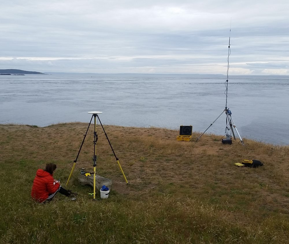 Base station set up for GPS survey
