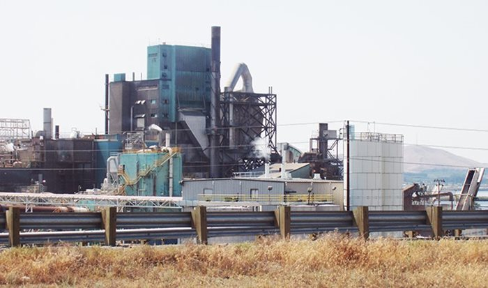 Photo depicts industrial facility where diatomaceous earth is processed