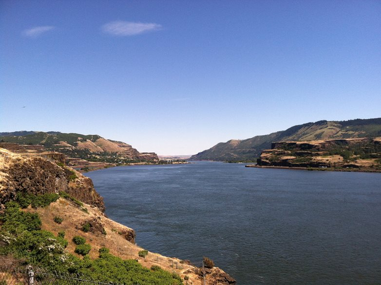 Columbia River looking east near Lyle, Washington